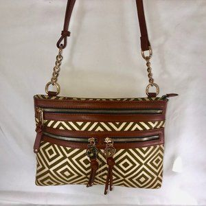 Spartina 449 Bags Small Leather & Linen Crossbody